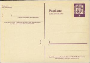 P 69 Gutenberg 8/8 Pf Antiqua, mit Beidruck ** wie verausgabt
