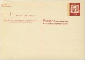 P 71 Bach 20/20 Pf Antiqua, mit Beidruck ** wie verausgabt