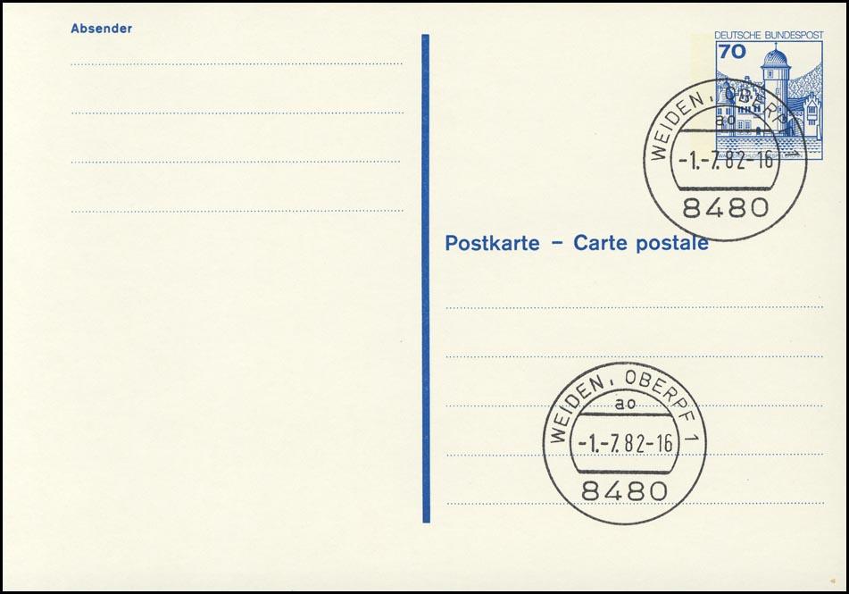 P 136 I BuS 70 Pf Buchdruck VS-O Weiden 0