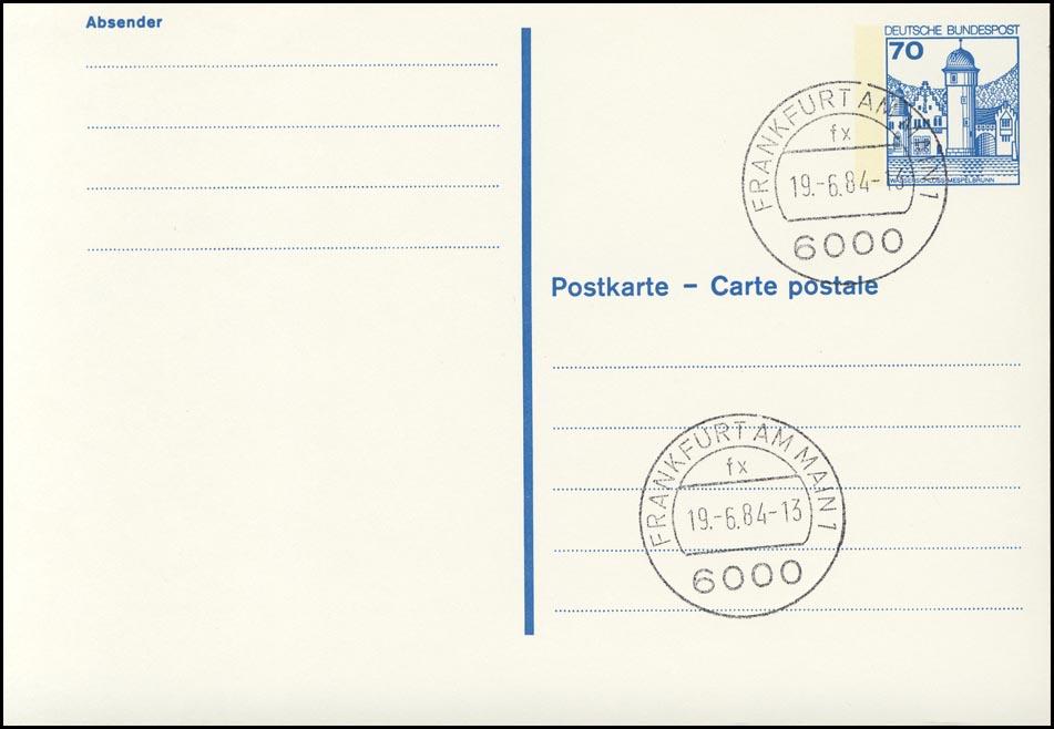 P 136 II BuS 70 Pf Letterset VS-O Frankfurt 0