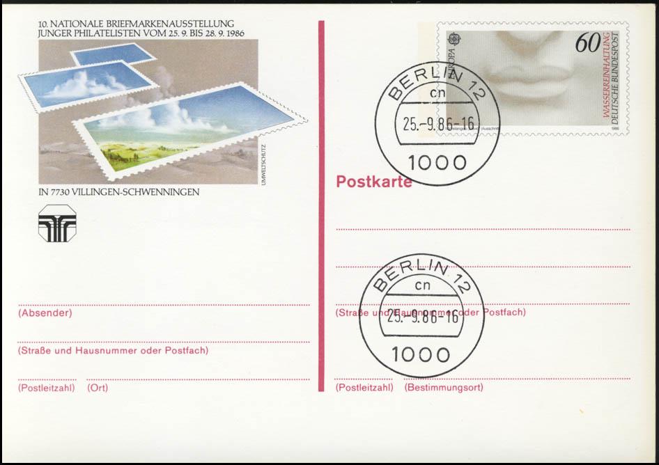 PSo 13 NAJUBRIA Villingen-Schwenningen 1986, VS-O Berlin 25.9.86 0