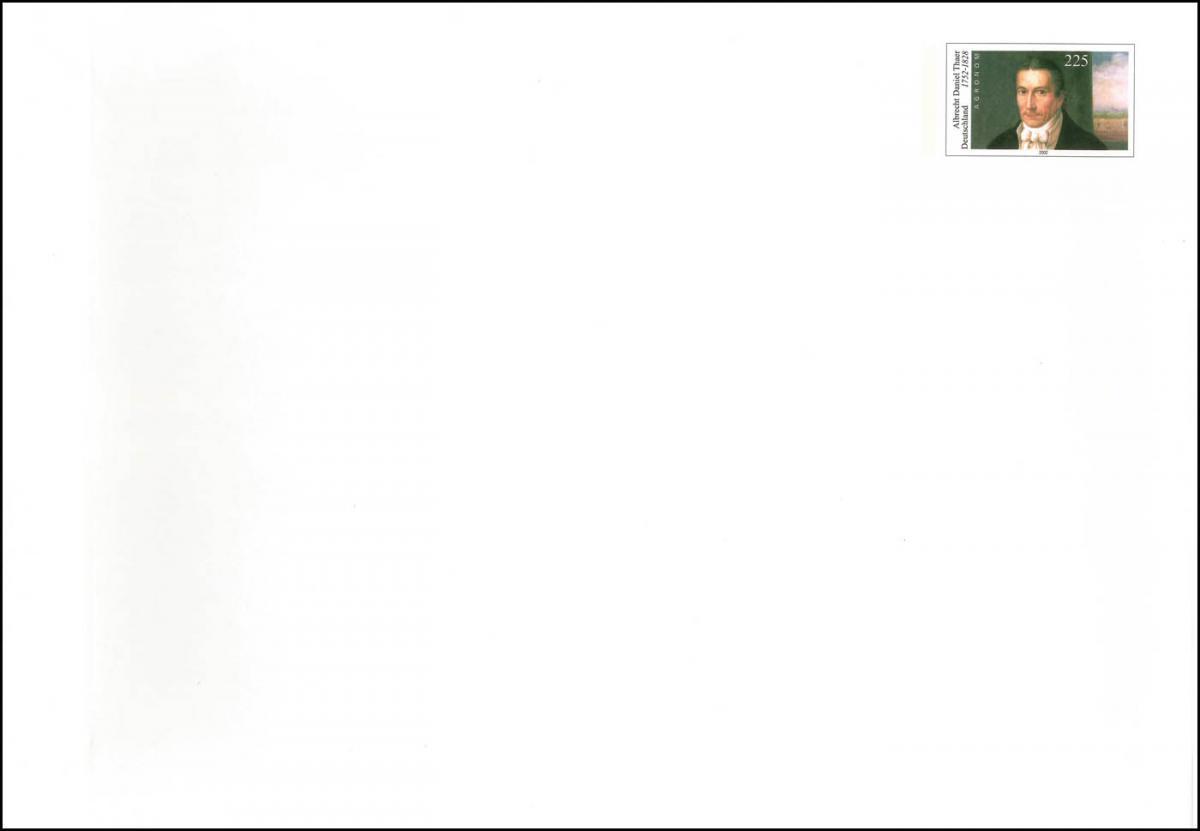 USo 38/01 Thaer, Schutzstreifen unbedruckt, postfrisch 0