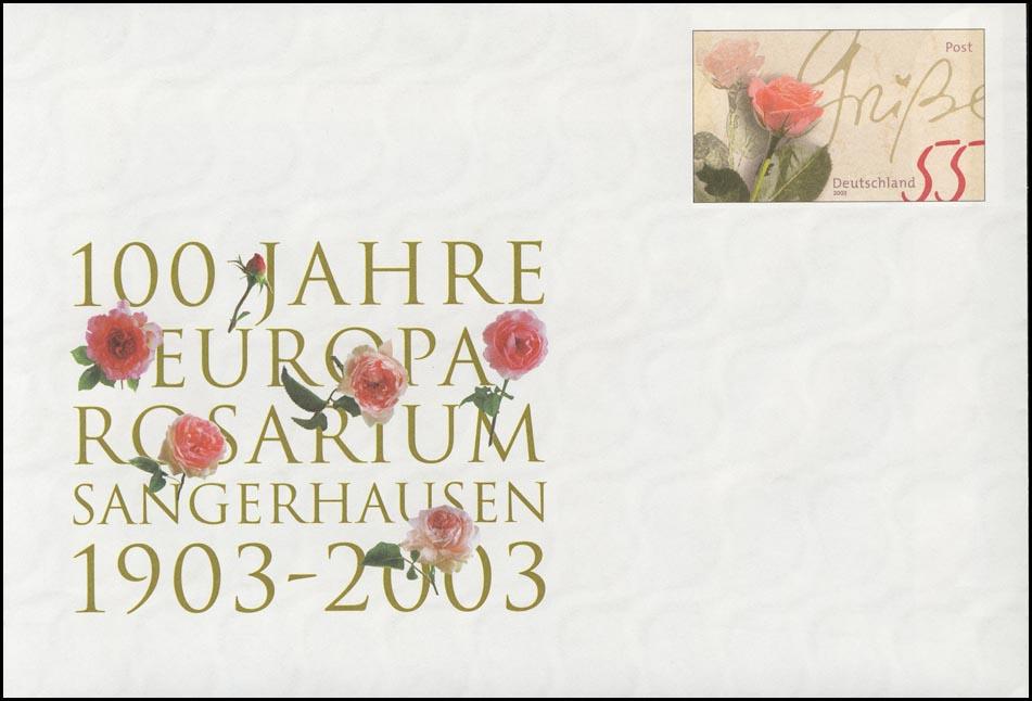 USo 60 Europa-Rosarium Sangerhausen 2003 & Rosengrüße, ** 0
