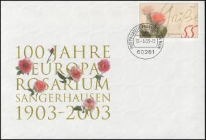 USo 60 Europa-Rosarium Sangerhausen 2003 & Rosengrüße, VS-O Frankfurt 12.6.2003