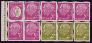 HBl. 6 aus MH 3 Heuss 1956, RLV I, postfrisch
