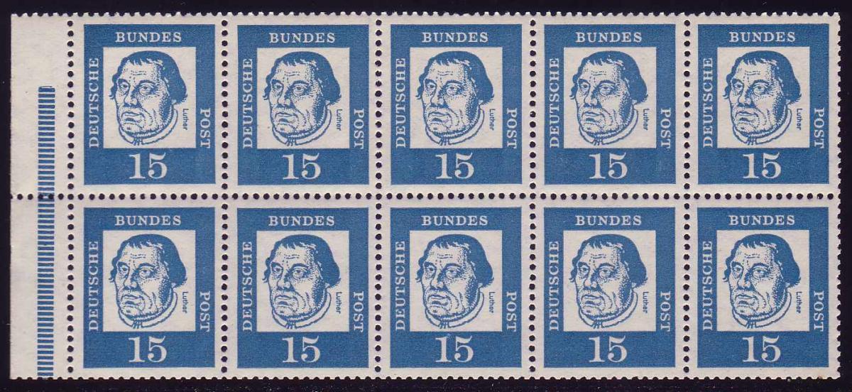 HBl. 13 aus MH 8 Luther, RLV III, postfrisch 0
