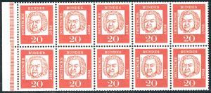 HBl. 14B aus MH 9 Bach, RLV I b, postfrisch