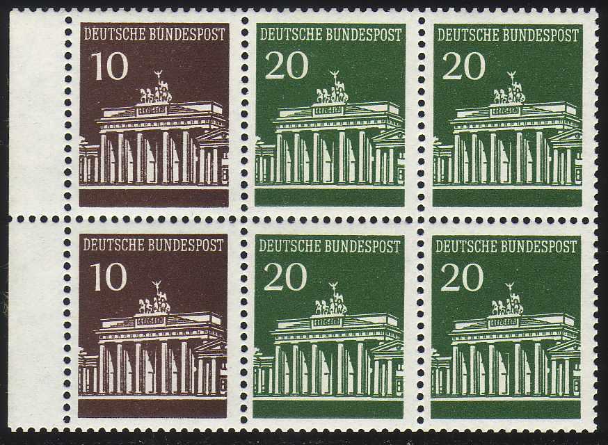 HBl. 18 aus MH 13 Brandenburger Tor, ** postfrisch 0