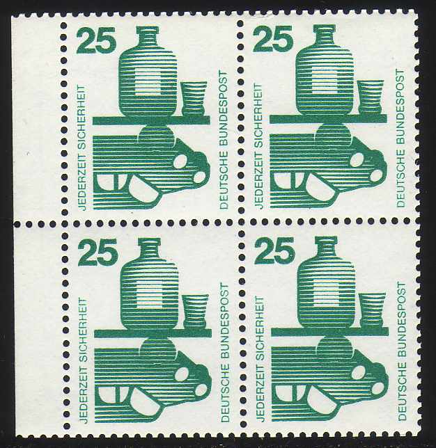 HBl. 20 aus MH 15 Unfall 1971, postfrisch 0