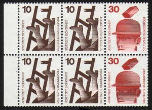 HBl. 21 aus MH 16 Unfall 1972, RLV I, ** postfrisch