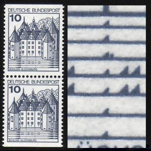 913II/II u BuS 10 Pf Ldr. C/D-Paar mit PLF II doppelte Welle, Feld 3, **