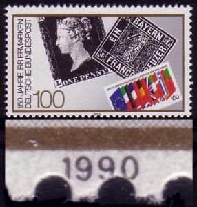 1479 Briefmarke, Verzähnung durch die Jahreszahl 1990, ** postfrisch