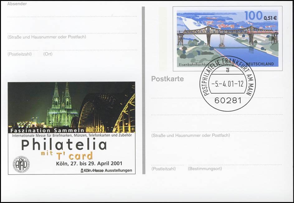 PSo 76 Philatelia Köln & Kölner Dom, VS-O Frankfurt 05.04.2001 0