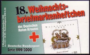 DRK/Weihnachten 1999/2000 Geburt Christi 110 Pf, 5x2085 18.MH **
