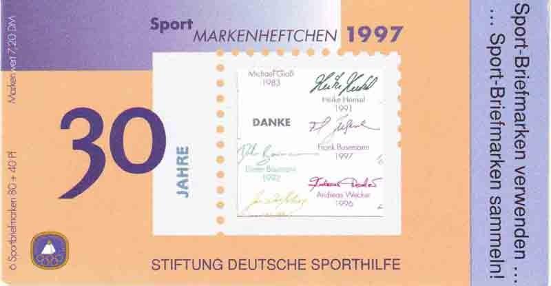 Sport 1997 Fun-Sport Aerobic 80 Pf, 6x1898, ESSt Berlin 0