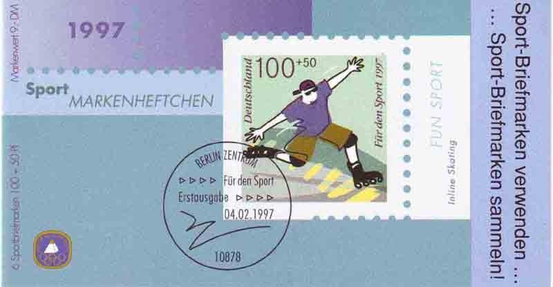 Sport 1997 Fun-Sport Inline Skating 100 Pf, 6x1899, ESSt Berlin 0