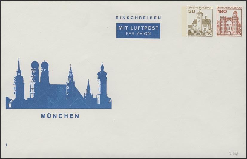 Umschlag 30+190 Pf BuS München ** 0