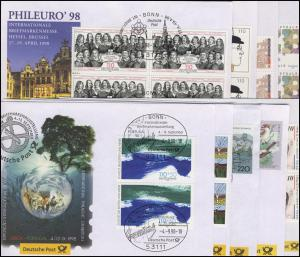 Ausstellungsbelege Jahrgang 1998 Nr. 27 bis 36 komplett mit 10 Belegen