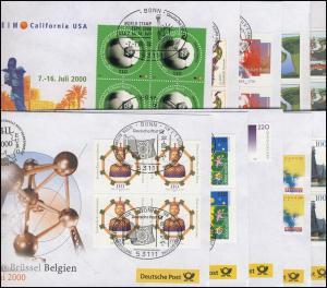 Ausstellungsbelege Jahrgang 2000 Nr. 47 bis 56 komplett mit 10 Belegen