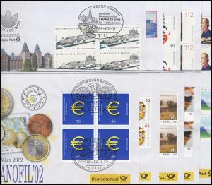 Ausstellungsbelege Jahrgang 2002 Nr. 67 bis 76 komplett mit 10 Belegen