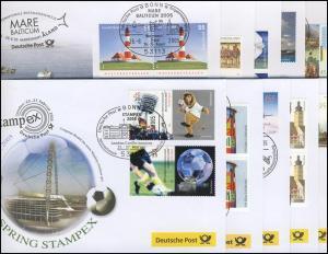 Ausstellungsbelege Jahrgang 2005 Nr. 97 bis 106 komplett mit 10 Belegen