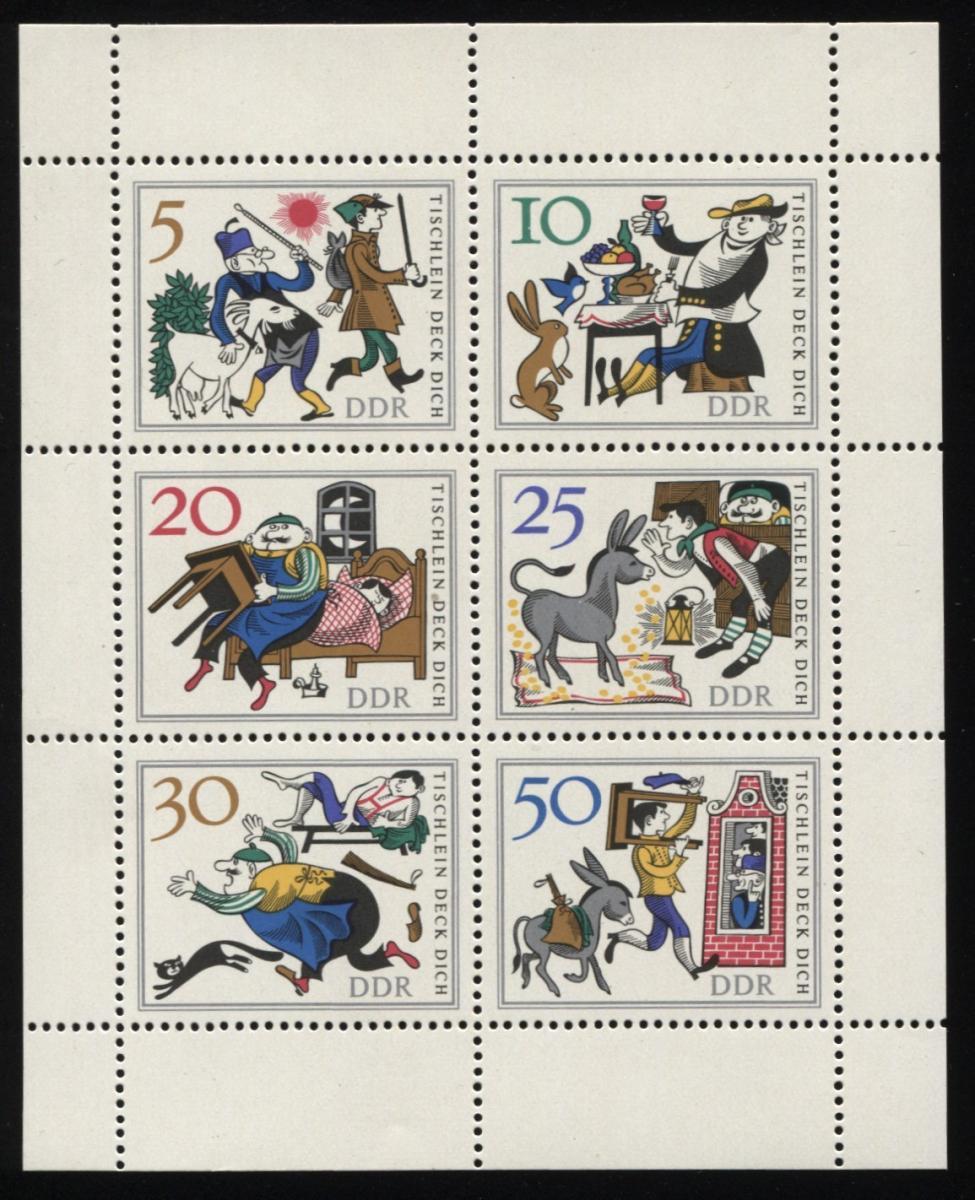 1236-1241 Märchen-KB mit 3 PLF: Punkt in der Schulter, Knopf und roter Strich ** 3