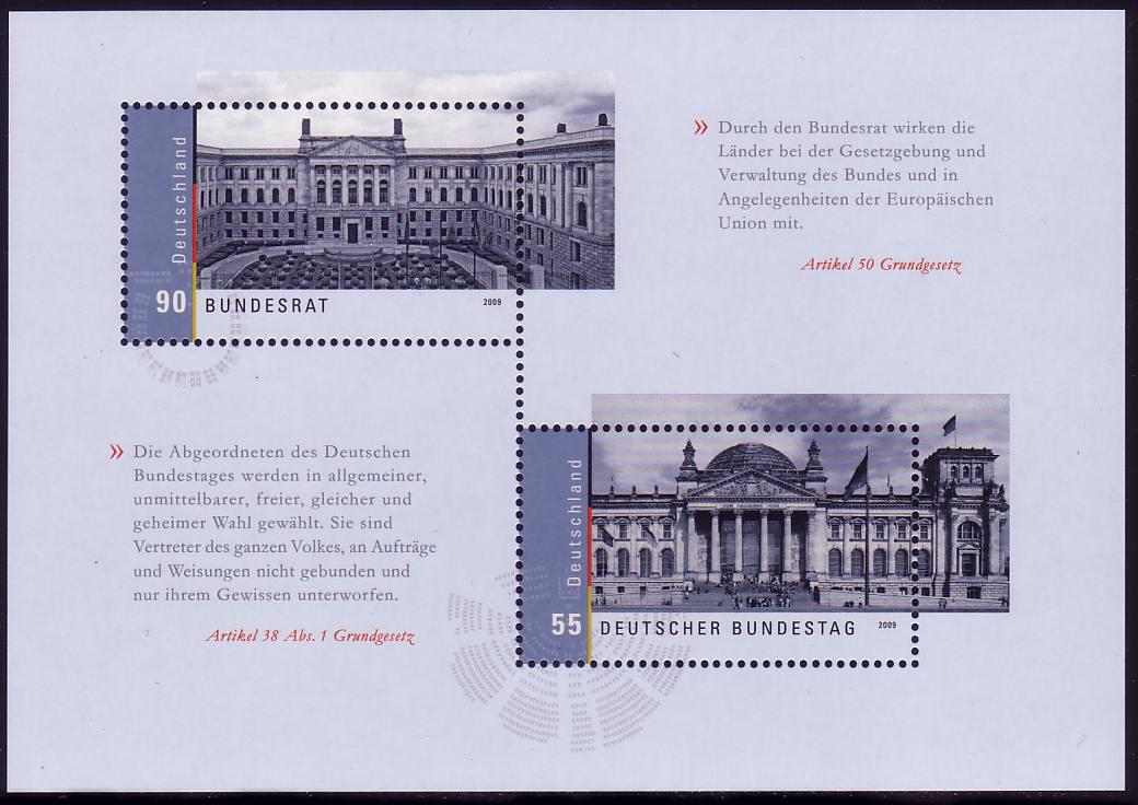 Block 76 Bundestag und Bundesrat, postfrisch ** 0