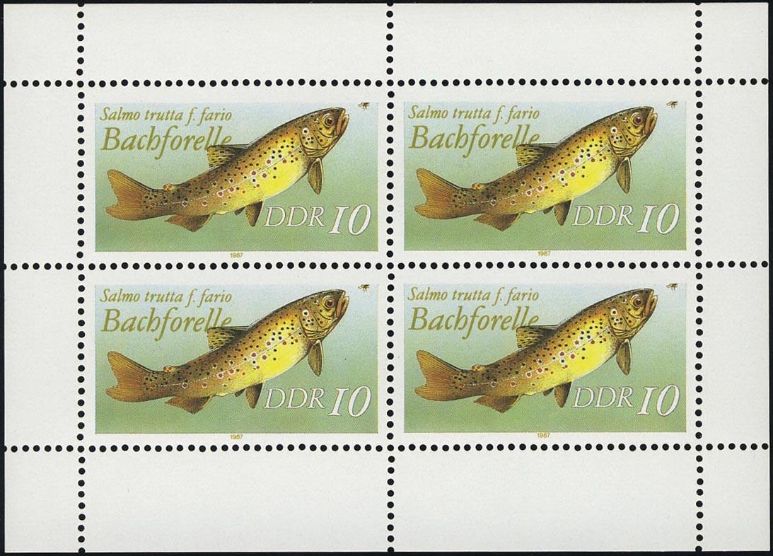 3096 Forelle-Kleinbogen, postfrisch 0