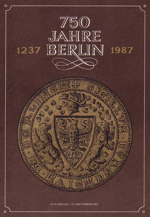 3071-3174 und Block 89 Berlin 1987, amtliches ETB 2/1987 0