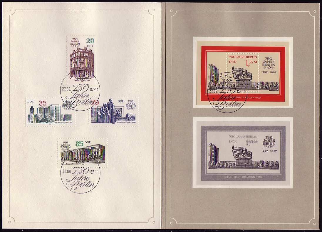 3071-3174 und Block 89 Berlin 1987, amtliches ETB 2/1987 1
