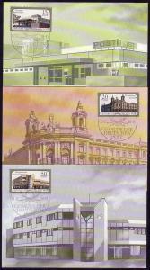 3145-3147 Postgebäude 1988, amtliche MK 1-3/88
