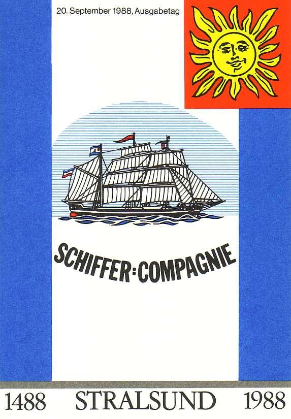 3198-3201 Segelschiffe 1988, amtliches ETB 2/1988 0