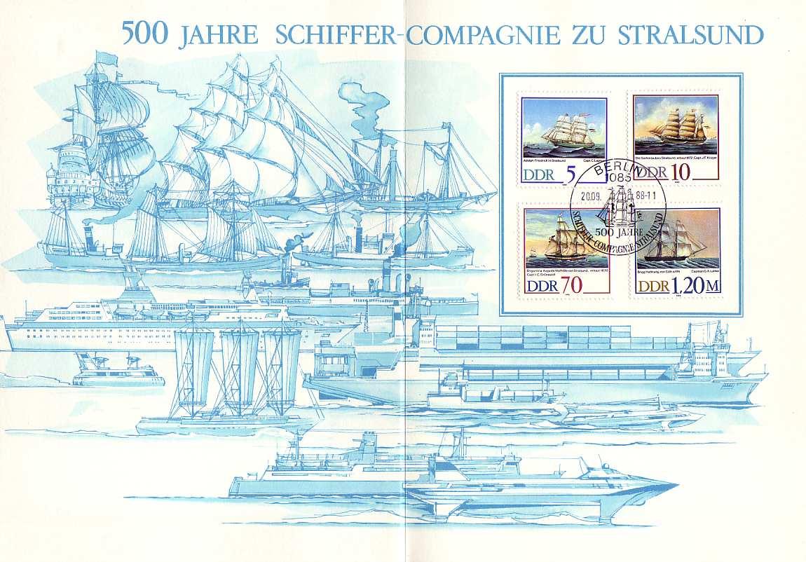 3198-3201 Segelschiffe 1988, amtliches ETB 2/1988 1