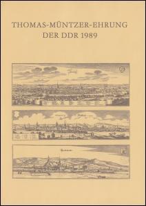 3269-3273 Müntzer-Ehrung 1989, amtliches ETB 2/1989