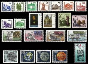 3344-3365 DDR-Jahrgang 1990 DM-Währung, postfrisch ** / MNH