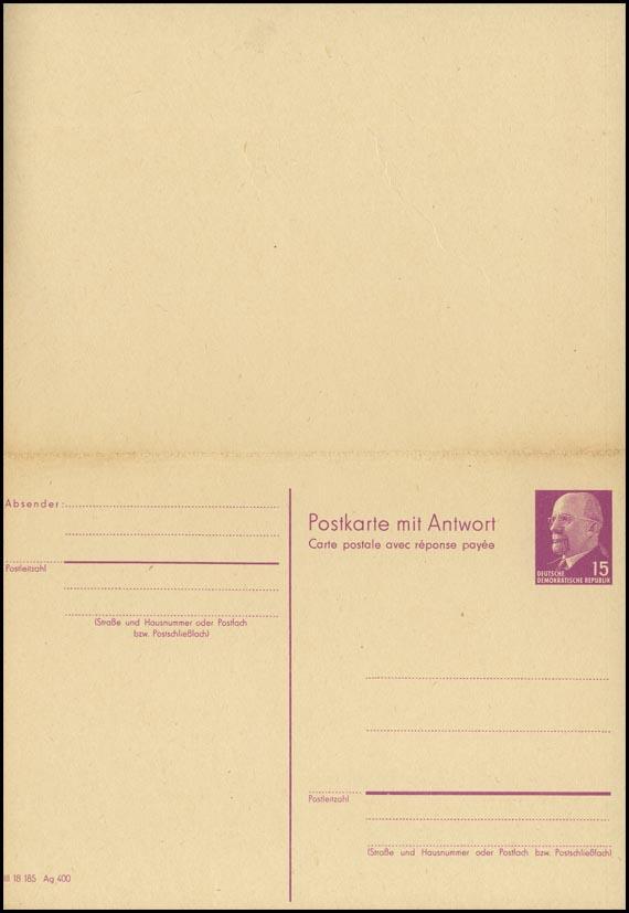 P 78  Walter Ulbricht 15/15 Pf 1966, Postleitzahl, postfrisch ** 0
