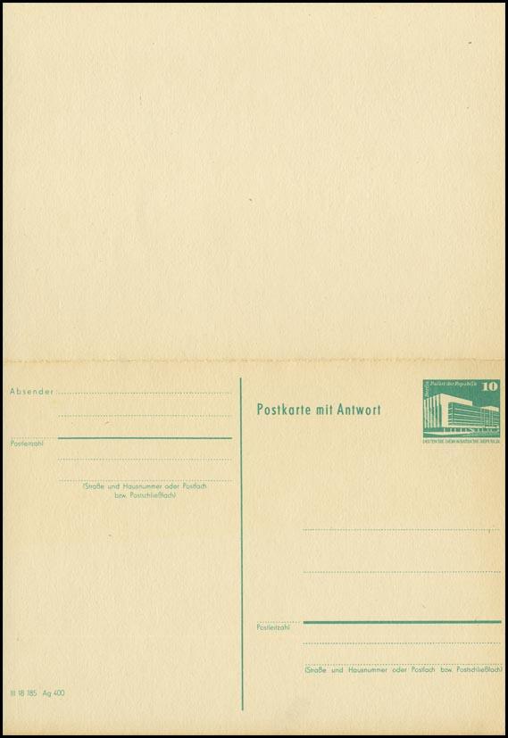 P 85 Bauwerke Klein 10/10 Pf Palast der Republik, grün 1982, postfrisch 0