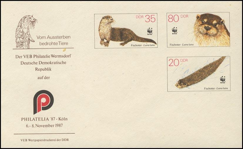 U 7 Naturschutz WWF Fischotter 1987, Zudruck Köln, postfrisch 0