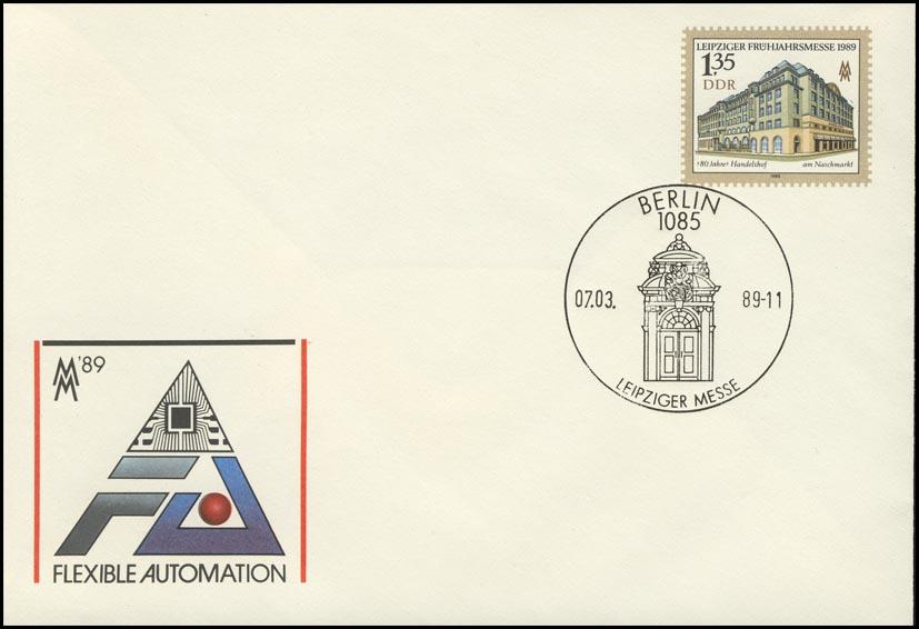 U 9 Leipziger Messe & Handelshof 1,35 M, ESSt Berlin Handelshof-Relief 7.3.1989 0