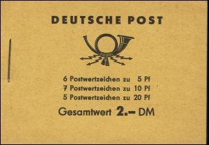 MH 3b2 Fünfjahrplan 1961 Klammer 17 mm - postfrisch