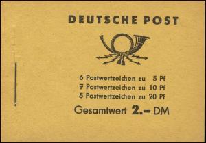 MH 3b1.11b Fünfjahrplan 1961, 5 PLF Halterung, Brüche, Fleck, Farbausfüllung **