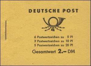 MH 3b2.50 Fünfjahrplan 1961, 4 PLF 1 PLF HBl.7B, 1 PLF HBl.8B, 1 PLF HBl.9B