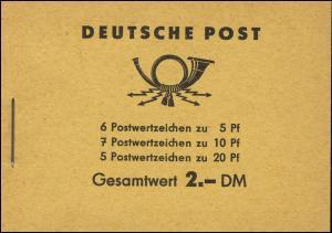 MH 3b1.1 Fünfjahrplan 1961 mit 2 PLF Fleck im Bogen der 5 und verbundene 2, **