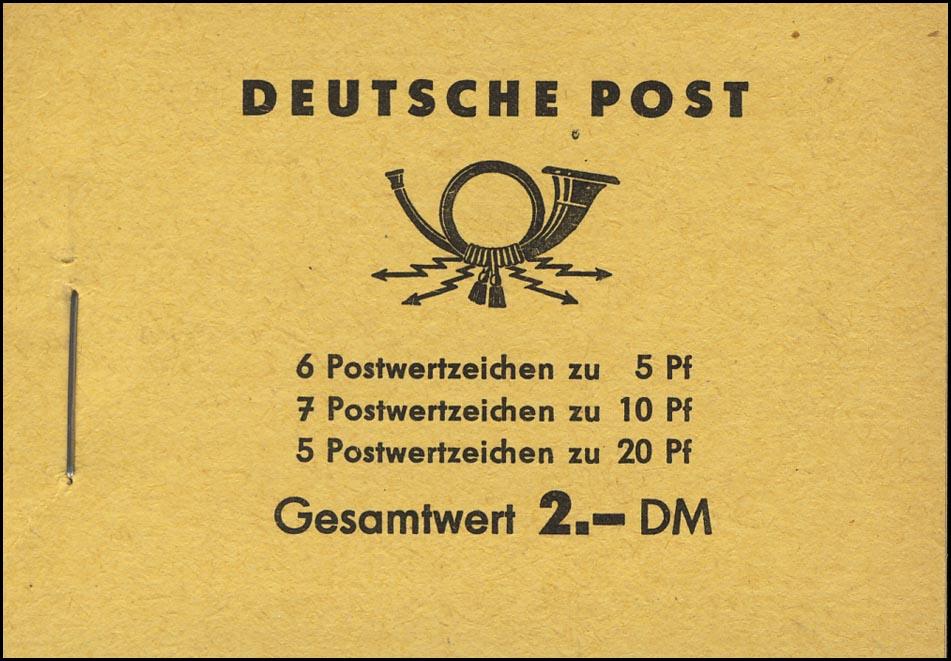 MH 3b1.27b Fünfjahrplan 1961, 4 PLF Rahmenkerbe, Loch im Haar, zweimal Linie ** 1