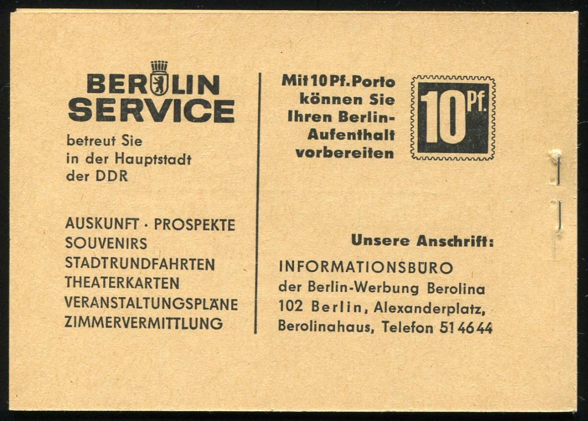 MH 4b3 Ulbricht der Ausgabe von 1966 - postfrisch ** 1