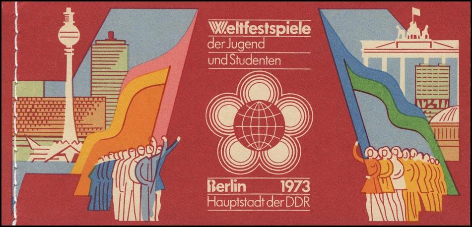 MH 7/1.1 Weltfestspiele 1973 mit PLF 1864I Fleck am Ohr ** 1