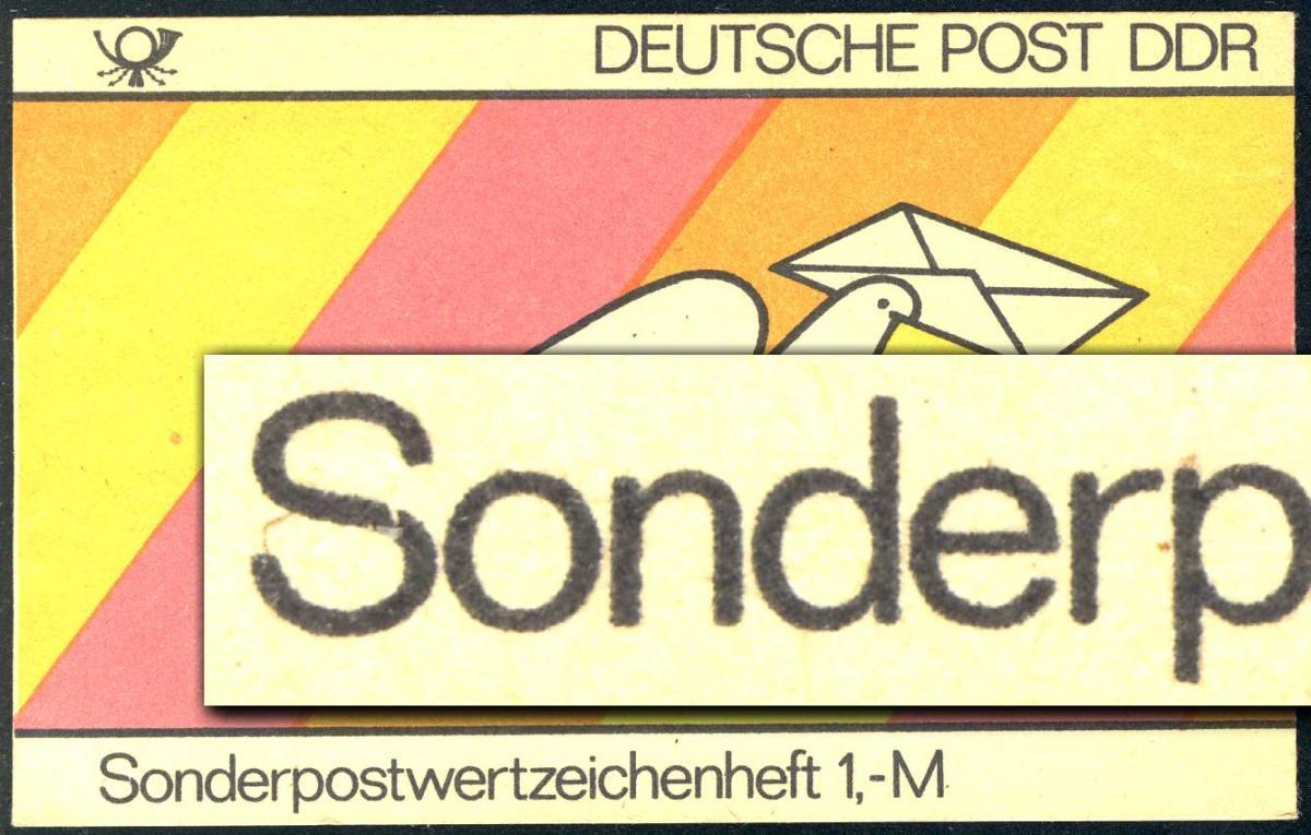 SMHD 18 Brieftaube 1985 mit DDF auf 4.DS Kerbe im S von Sonder-, ** 0