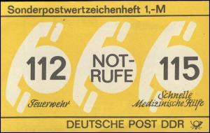 SMHD 26 Notrufe 1987 mit DDF auf 1.DS spitzer Fuß des R von RUFE **