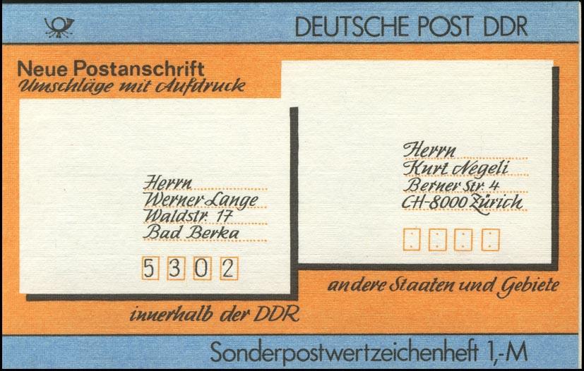 SMHD 33 Postanschrift international - mit VS-O Berlin ZPF 0