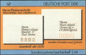 SMHD 33 Postanschrift international - mit VS-O Berlin ZPF